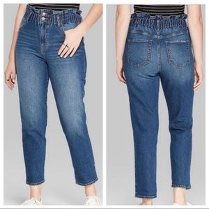 NEW Wild Fable Paper Bag High Waist Mom Jeans